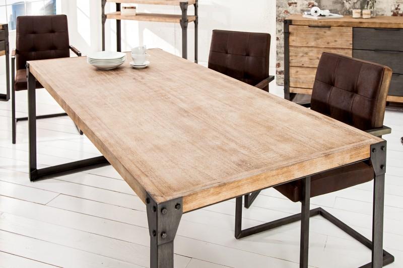 Jídelní stůl  Industry 200cm x 90cm - akát, šedý / 36770