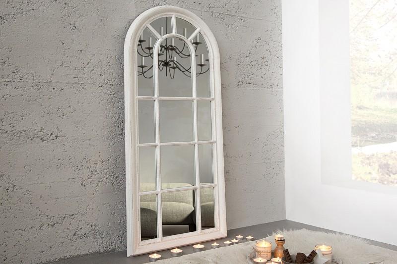 Nástěnné zrcadlo Castillo 140cm - šedá, vintage bílá / 36881