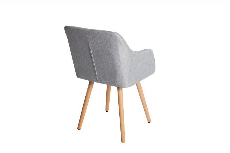 Jídelní židle Scandinavia Retro - světle šedá / 36822