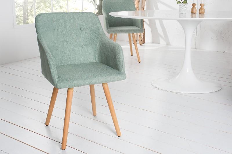 Jídelní židle Scandinavia Retro - limetková / 36827 - 1ks skladem