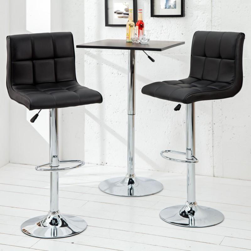 Barová židle Ambiente 90-115cm - černá / 36918