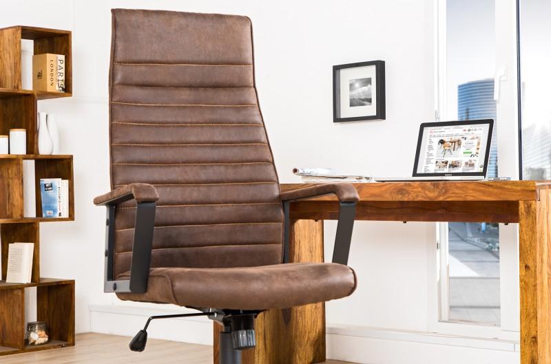 Kancelářská židle Lazio - hnědá / 37075
