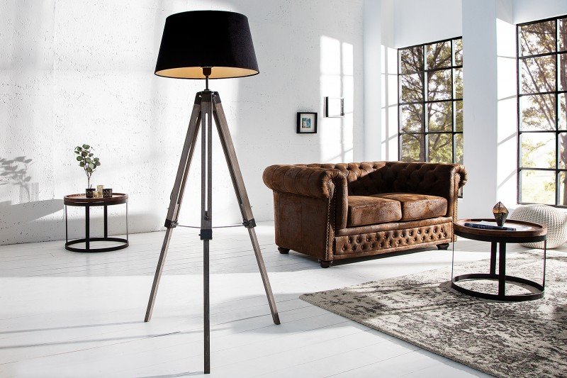 Stojací lampa Sylt 100-145cm - černá / 36853