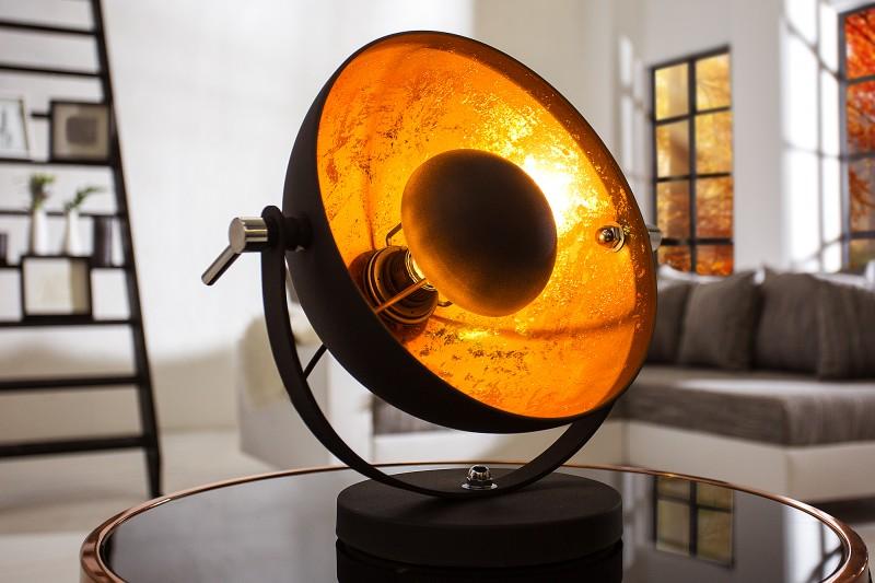 tischleuchte studio 40cm schwarz gold 37140 5244. Black Bedroom Furniture Sets. Home Design Ideas