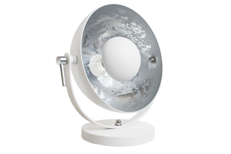 Stolní lampa Studio 40cm bílá stříbrná / 37141