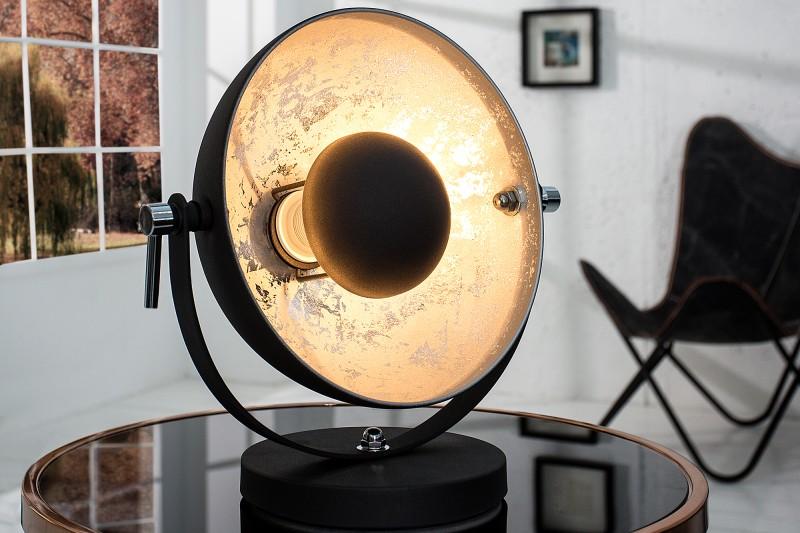 Stolní lampa Studio 40cm černá stříbrná / 37222