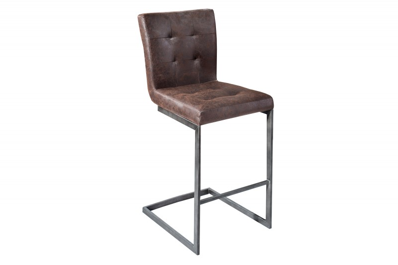 barhocker rodeo braun leder eisen 37057 5415. Black Bedroom Furniture Sets. Home Design Ideas