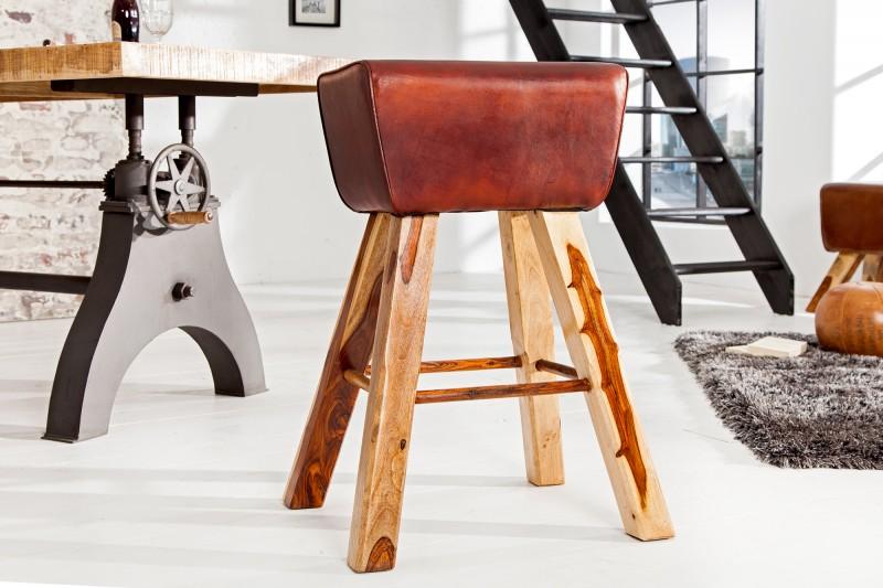 Barová židle Bock kůže hnědá / 36815
