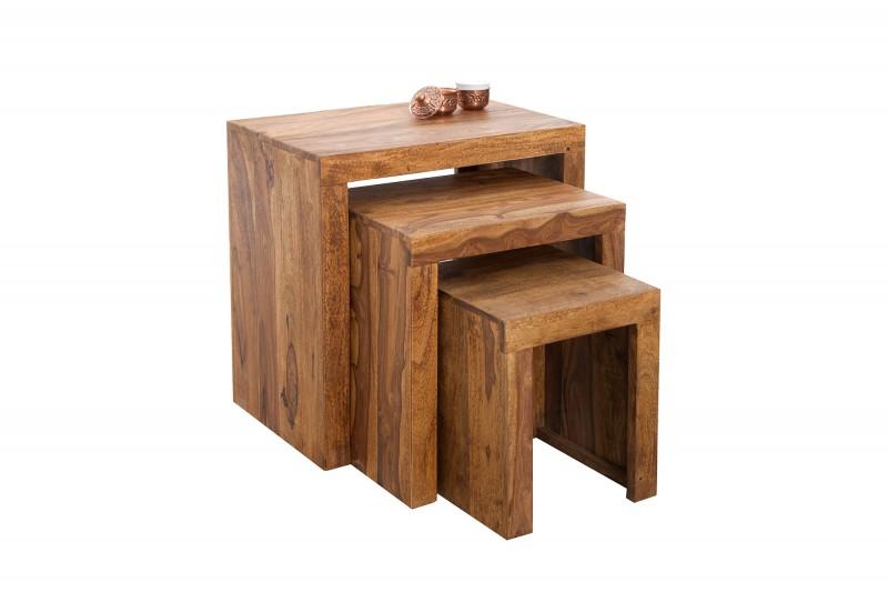 Konferenční stolek Dare 3ks - Sheesham / 20596