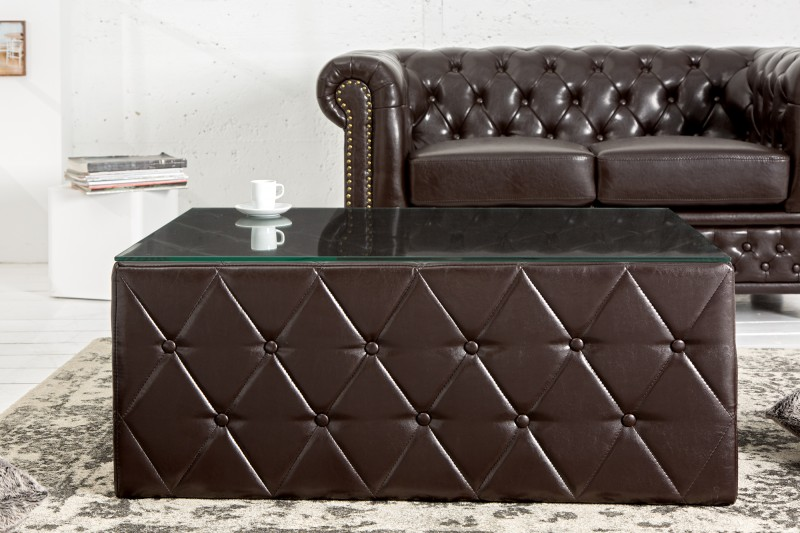Couchtisch Chesterfield 100cm dark coffee 37281 5600