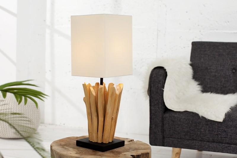 Stolní lampa Euphoria - naplavené dřevo, bílá / 36967