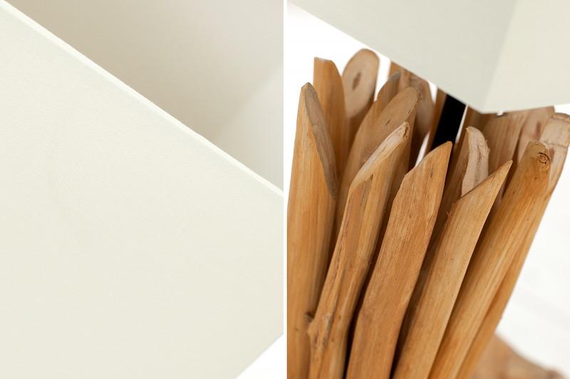 Stolní lampa Euphoria 45cm - naplavené dřevo, bílá / 36967