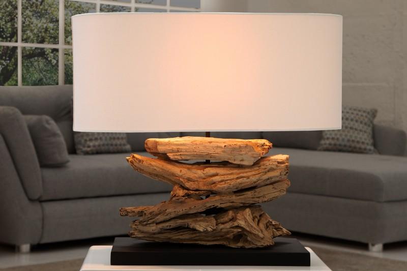 Stolní lampa Riverine - naplavené dřevo, béžová / 36786