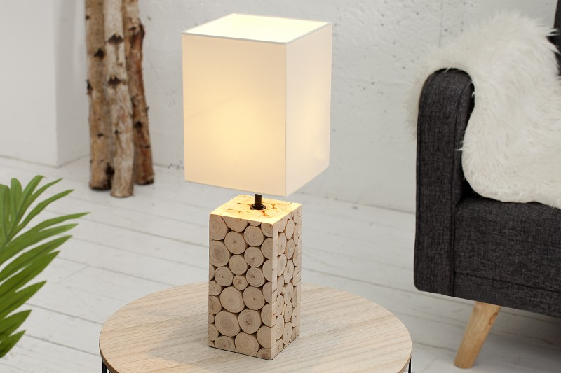 Stolní lampa Natural Mosaic 45cm - bílá / 36969