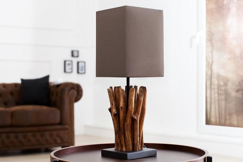 Stolní lampa Euphoria 45cm - naplavené dřevo, šedá, hnědá / 36966