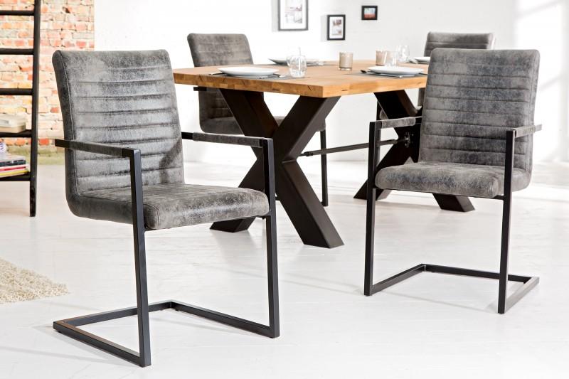 Jídelní židle Freya - vintage šedá / 37261