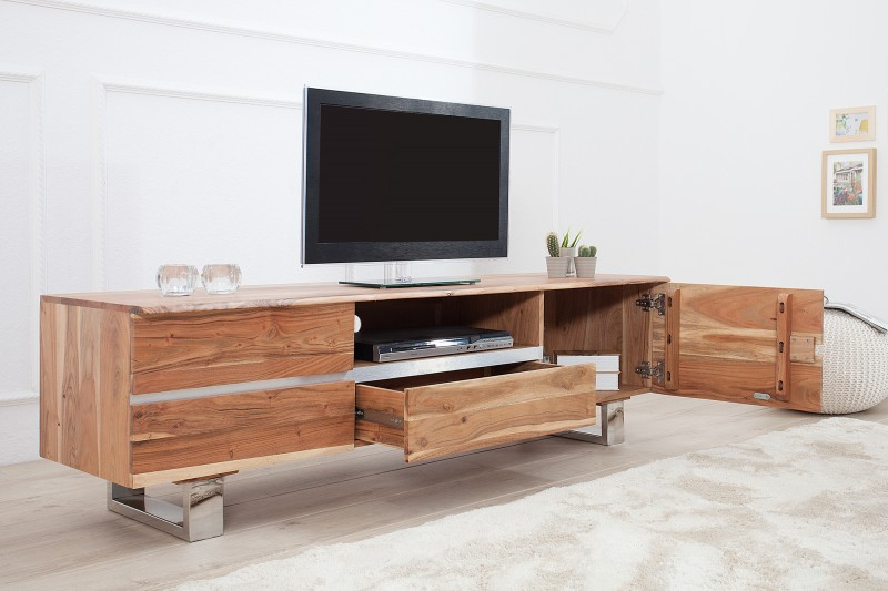 Televizní stolek Guerrero 160cm x 50cm  - akácie / 37498
