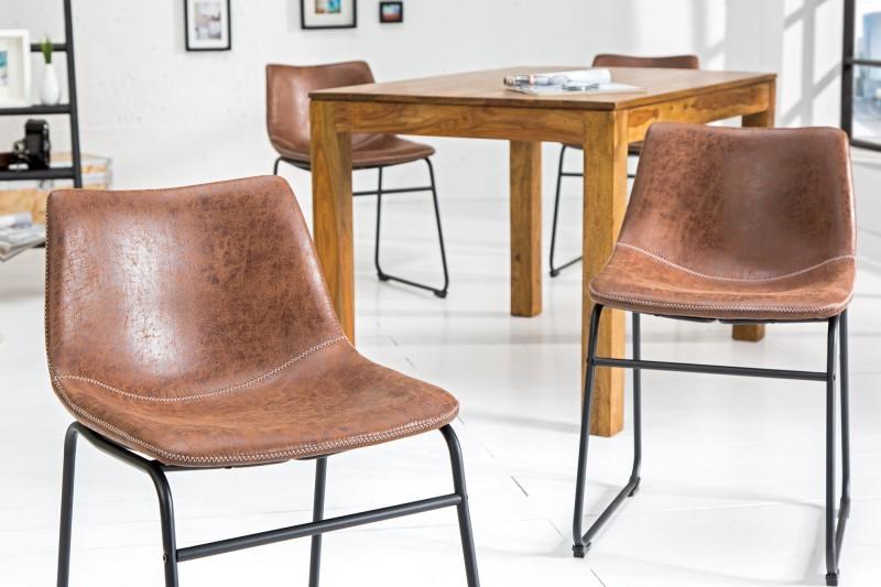 Jídelní židle Aiden - vintage hnědá / 37347 - 2ks skladem