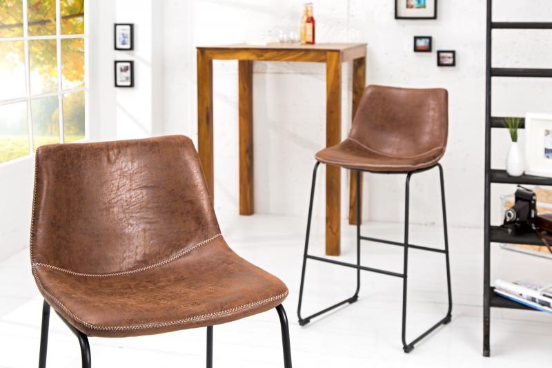 Barová židle Django - vintage hnědá / 37348