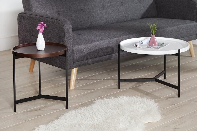 couchtisch lagoon 2er set weiss walnuss 37232 5341. Black Bedroom Furniture Sets. Home Design Ideas