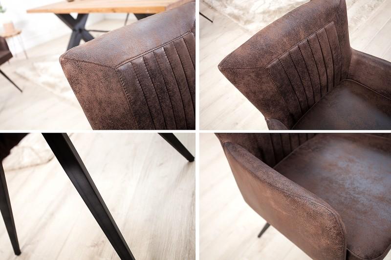 Jídelní židle Windsor - vintage hnědá / 37317