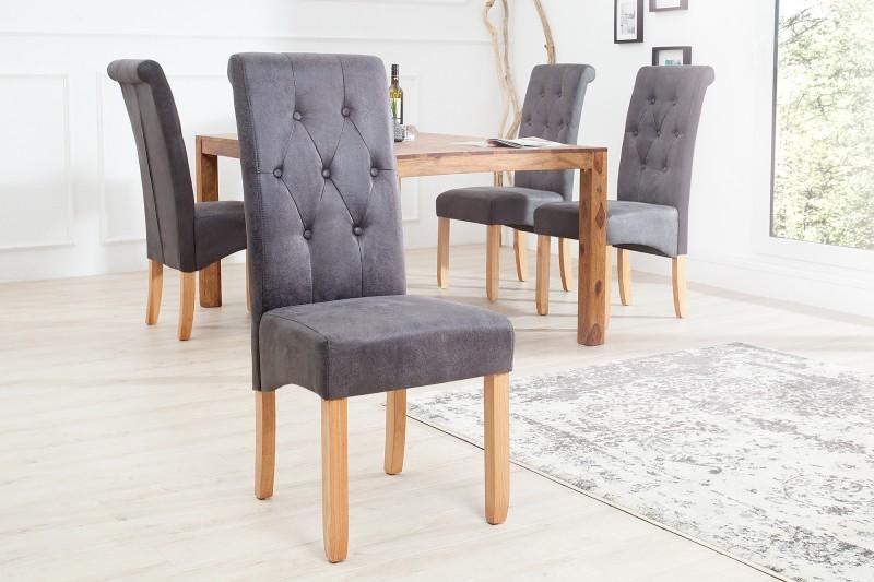 Jídelní židle Cassa - vintage šedá / 37293