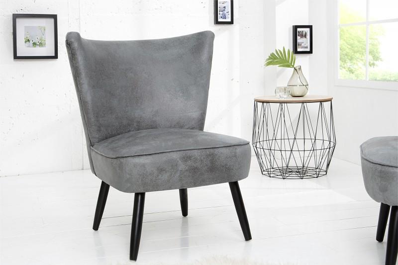 sessel retro sixties antik grau 37185 5544. Black Bedroom Furniture Sets. Home Design Ideas