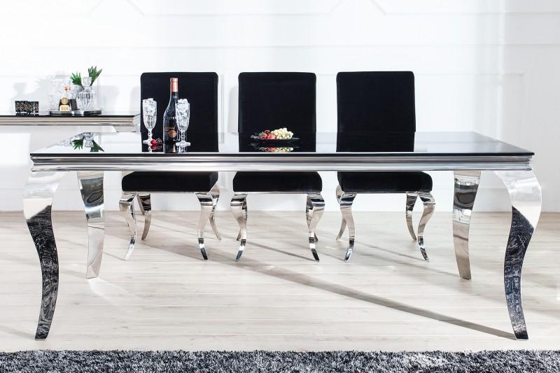 Esstisch Modern Barock 200cm schwarz/ 37356 -5723