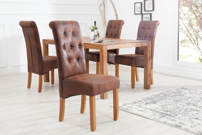 Jídelní židle Cassa - vintage hnědá / 37292