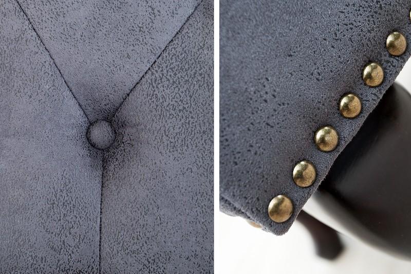 Podnožka Chesterfield 80cm x 45cm - vintage šedá / 37474