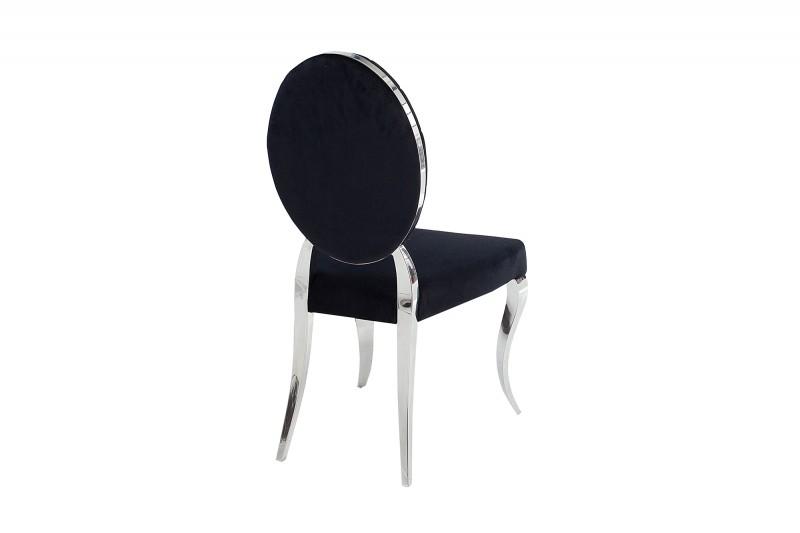 Jídelní židle Giacomo II - černá, samet / 37354