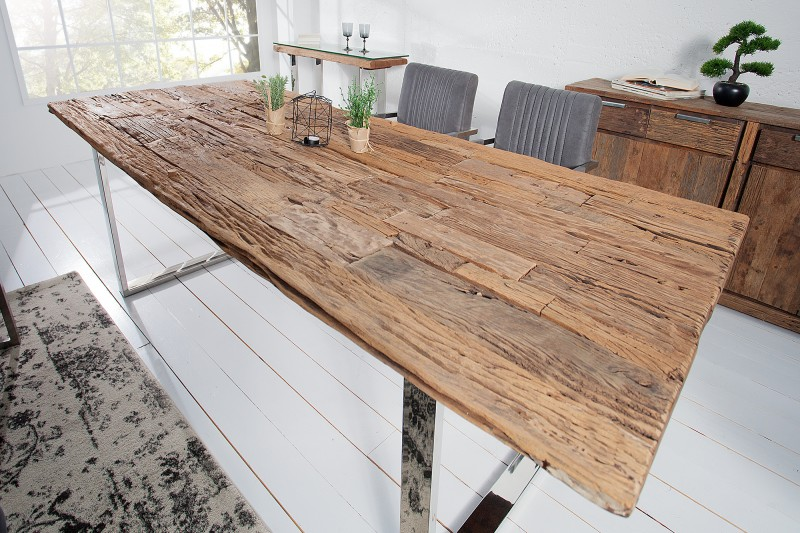 Jídelní stůl Pretoria 200cm x 100cm - recyklovaný  teak  / 21645