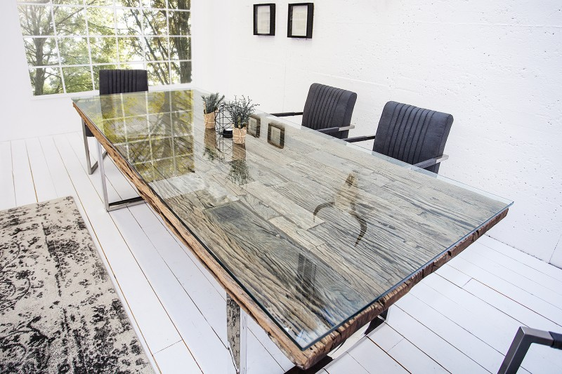Jídelní stůl Pretoria 240cm x 100cm - recyklovaný  teak  / 35099