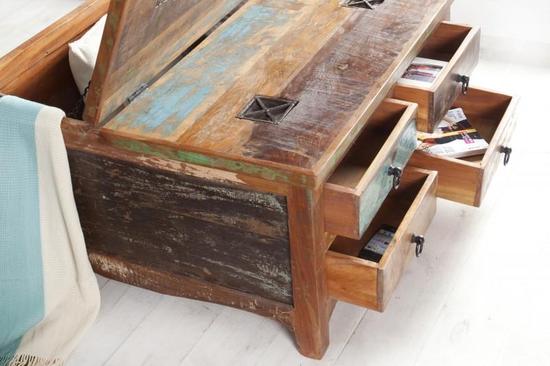 Konferenční stolek Jakarta 70cm x 70cm - recyklované dřevo / 37361