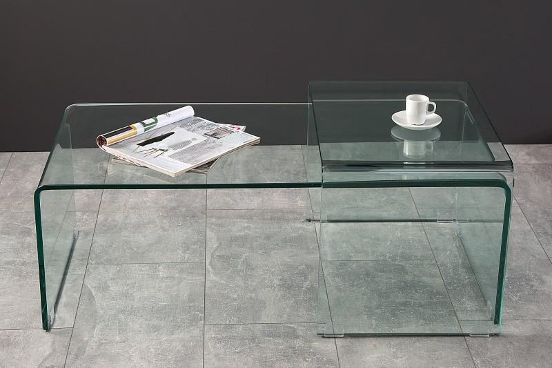 Konferenční stolek Fantome 2ks - tvrzené sklo  /37255