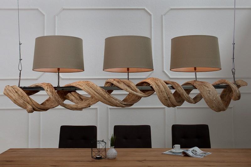 Závěsné světlo Brooke 160cm - recyklované dřevo / 37210