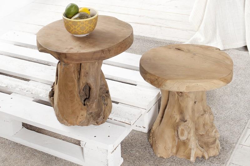 Konferenční stolek Root 40cm - teak / 37139