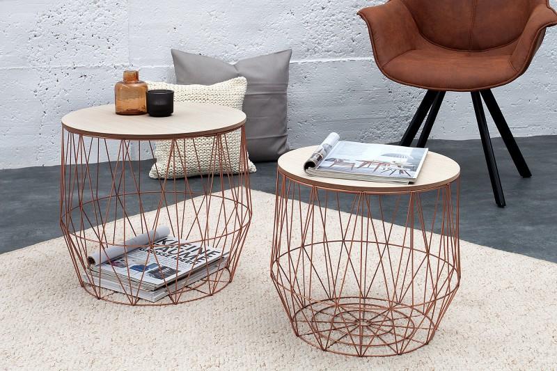 Konferenční stolek Storage II - hnědo-měděná / 37659