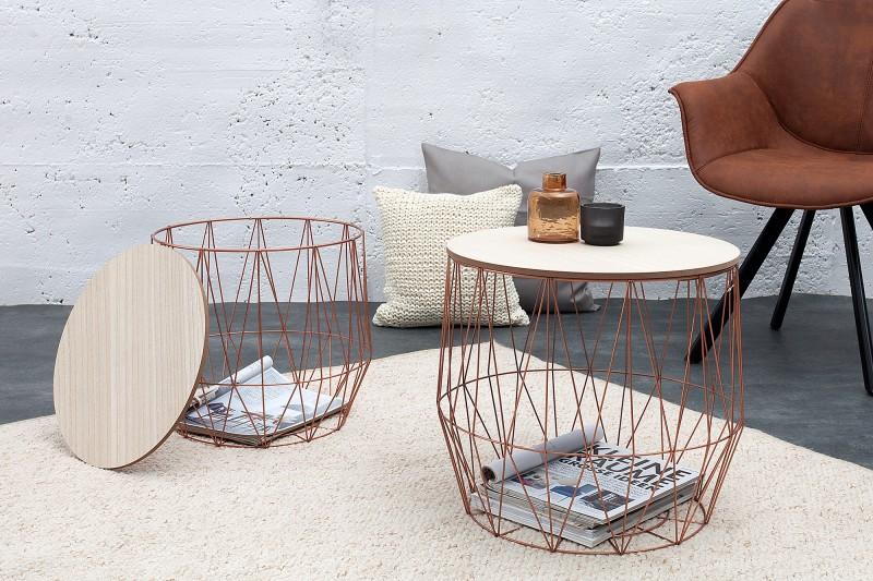 couchtisch storage 2er set kupfer 37659 5926. Black Bedroom Furniture Sets. Home Design Ideas
