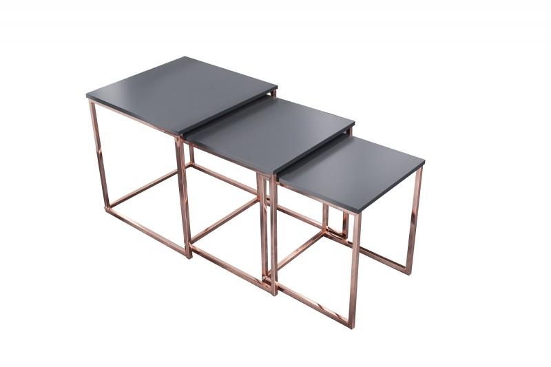 Konferenční stolek Juliet 3ks - měděný / 37731