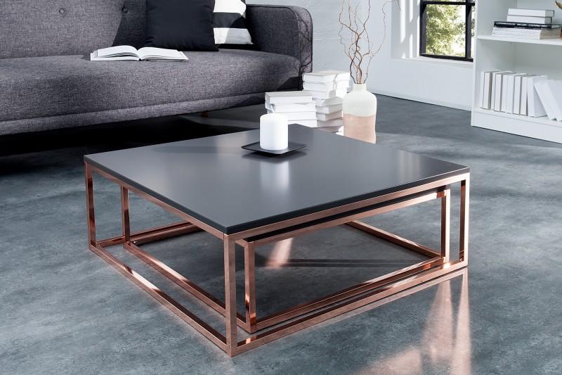 Konferenční stolek Donovan 2ks - antracit, měd / 37733