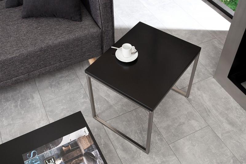 couchtisch schwarz edelstahl. Black Bedroom Furniture Sets. Home Design Ideas