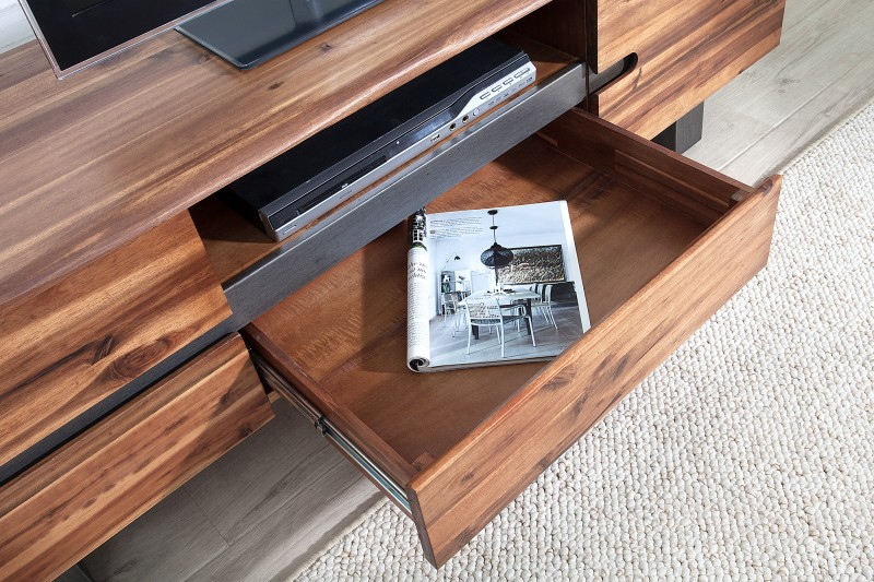 Televizní stolek Guerrero 160cm x 50cm - akácie / 37225