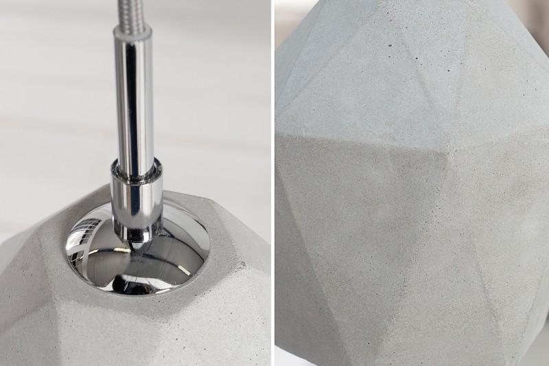 Závěsné světlo Cement 15cm - beton / 36240