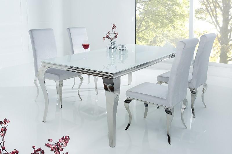 Schon Esstisch Modern Barock 180cm Weiss Silber/ 37903