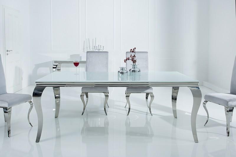 Jídelní stůl Giacomo 180cm x 90cm - bílá, stříbrná / 37903