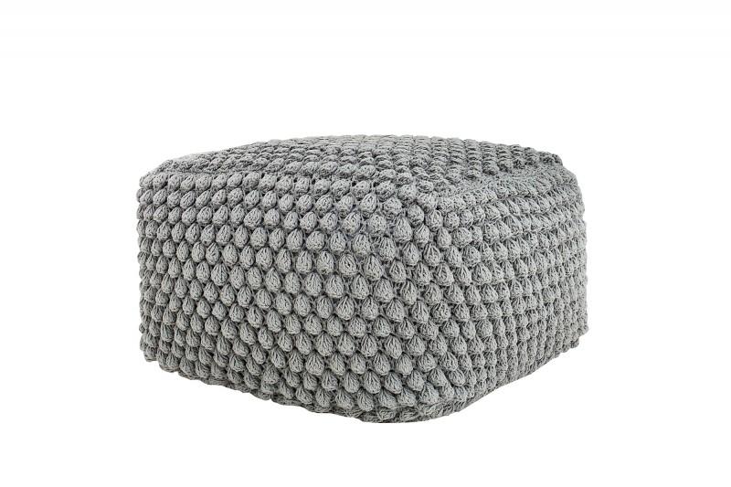 Podnožka Cozy I 55cm šedá pletená / 37756