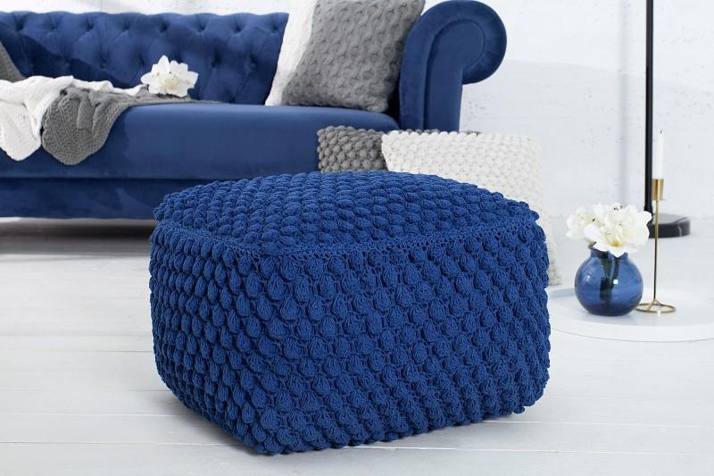 Podnožka Footstool 55cm x 55cm - tmavě modrá / 37758