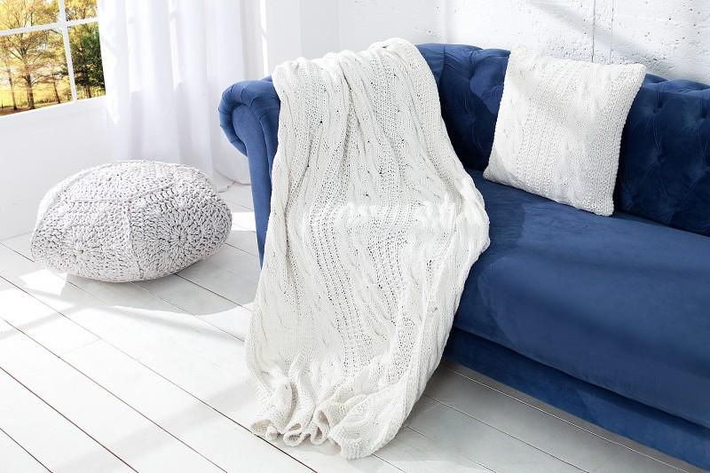 Deka Cozy II 130x170cm - bílá, pletená / 37760