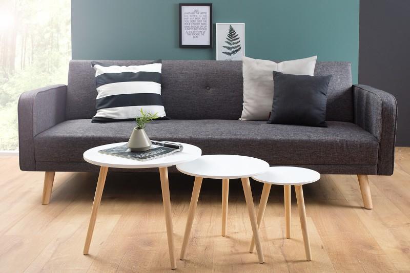 Konferenční stolek Scandinavia 3ks - bílá / 37541
